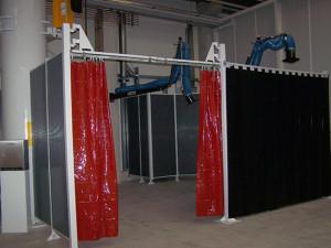 Swivel arms Orange CE curtains - web