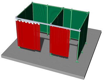 Overview standard Sonic welding booth system - web